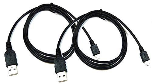 2 Stück 1m Ladekabel für Playstation 3, PS3, PS3 Slim, Dual Shock Controller Aufladekabel Ladegerät mit mungoo Displayputztuch