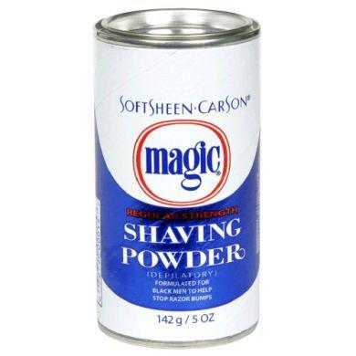 Original Magic (depilatory) No Razor Shaving Powder 127gm Stops Razor Bumps Regular Strength - Blue