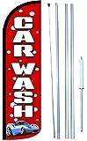 Car Wash (#B) Swooper Windless Flag Kit (full sleeve) 3ft X 11.5ft Flag by EZ Flags