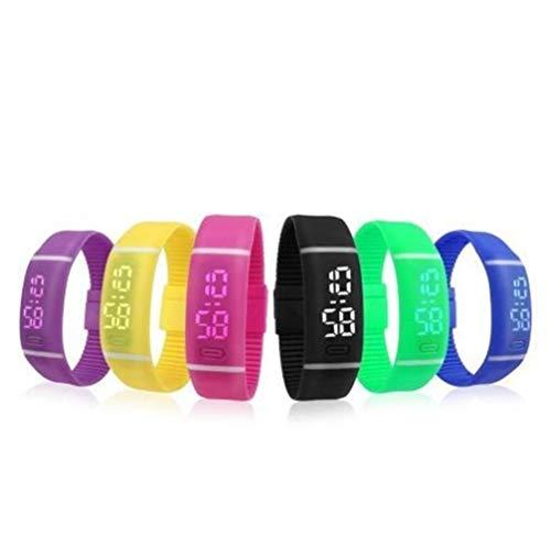 Bnvna Fitness Tracker, Prachtige Elektronische Horloge Rubber Horloges Voor Mannen En Vrouwen Horloge Met LED Sport Armband Met Datum Digitale Digitale Horloge, IP67 Waterdichte Activiteit Tracker Met Stappenteller Stap C