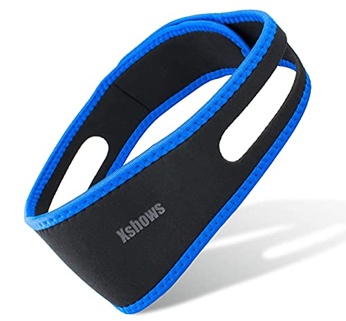 Anti Snoring Chin Strap, Adjustable Stop Snoring Sleep Aid for Most Head Sizes, Snoreless Sleeping Solution for Men and Women