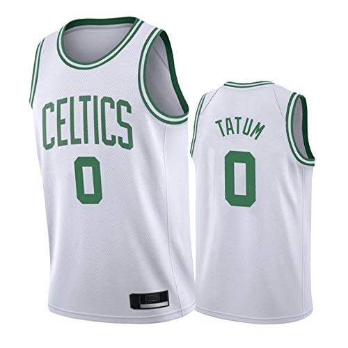 HRTE Celtics #0 Tatum #8 Walker #11 Irving Men's Basketball Jersey,2021 Season Sleeveless Shirt and Shorts,Fan Outdoor Team Training Sportswear with Log Tatum-M