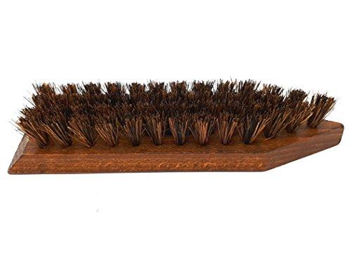 DELARA Große Reinigungsbürste aus lackiertem Holz mit kräftigen Kokosfasern zum Entfernen von grobem Schmutz von Schuhen, Gummistiefeln, Wanderstiefeln usw. - Made in Germany