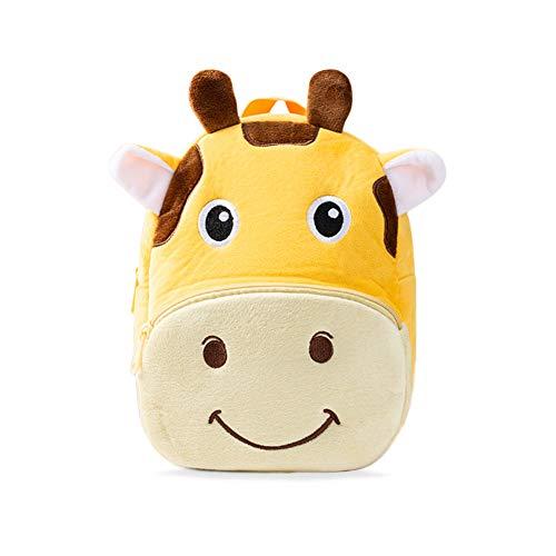 Mochila Infantil Kindergarten 3D Animales Escolar con Correa de arnés de Seguridad Pequeñas Mochilas Bolsas Daypacks Casuales Bolsa de Viaje Uso Diario para Niña Niño Bebe Guarderia Preescolar