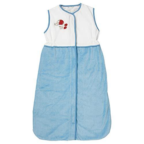 Schlafsack, blau, 6-18, Produktgröße: Länge: 84 cm, Material: Oberstoff: 75% Baumwolle, 25% Polyester, Innenstoff: 100% Baumwolle