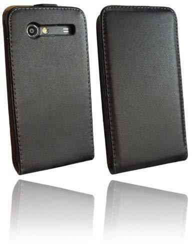 ENERGMiX Handytasche kompatibel mit Samsung Galaxy S Advance i9070 in Schwarz Klapptasche Hülle