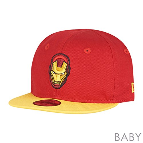 New Era Kinder 9FIFTY Essential Hero Iron Man Cap, Rot, One Size