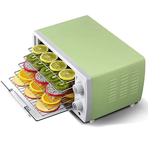 MEETGG Mini Deshidratador De Alimentos Eléctrico De 5 Bandejas con Controlador De Temperatura, Temporizador, Máquina Secadora De Frutas, Distribución De Calor por Recirculación, para Frutas, Verduras