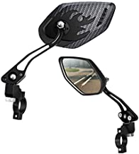 LX LERMX Bike Mirrors ( Two PCS ), Bar End Mountain Bicycle Mirrors Adjustable Bike Glass Mirror Rotatable Safe Rearview for Bicycle Electric Bike Cycling