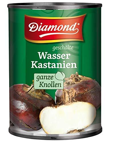 yoaxia ® - [ 540g / ATG 340g ] DIAMOND geschälte Wasserkastanien, ganze Knollen / Water Chestnuts