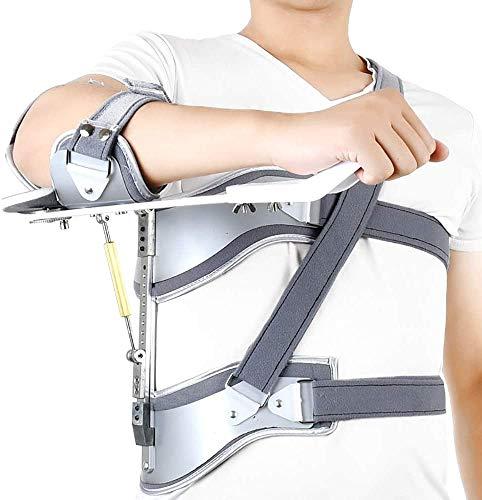 L.HPT Verstellbarer Armriemen, Feste Halterung für Schulterabduktionskissen, verstellbare, ortsfeste, leichte Teleskopkorrekturorthese für Risse, Luxationen, Verstauchungen