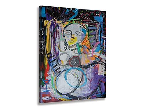 Hexoa Cuadro abstracto Odalisque, fabricado en Francia, cuadro de cristal acrílico – 50 x 80 cm