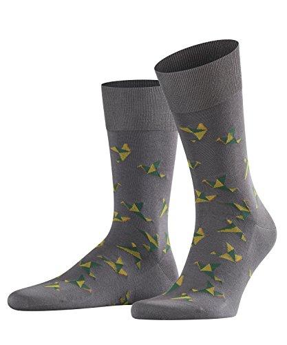FALKE Herren Paper Crane Socken, Smog, 41-42
