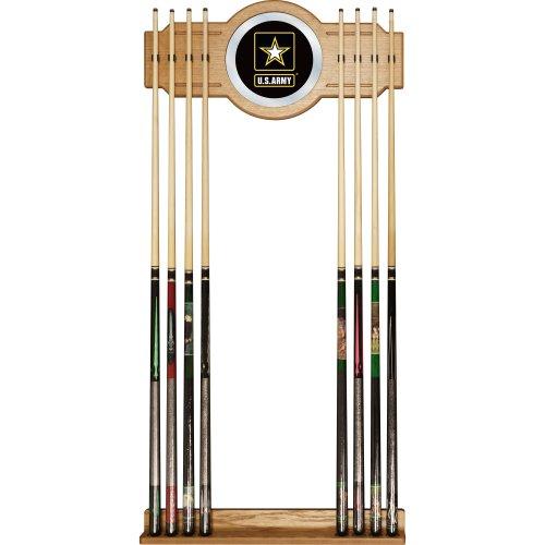 United States Army Billiard Cue Rack with Mirror