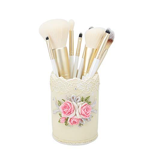 Xiton Maquillage Accessoires 10PCS / SET Beginner Pinceaux Kit Prémium fibres synthétiques Fondation Correcteur brosse cosmétiques fard à paupières Eyeliner Applicateur Kit Brosse(stockage inclus)