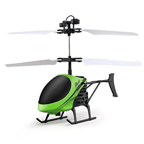Drone Helicopter,Aritone Flying Mini RC Infraed Induction Helicopter Aircraft with Flashing Light Toys For Kids Green