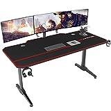 DlandHome Gaming Tisch 140cm Ergonomischer Gaming Schreibtisch Groß PC...