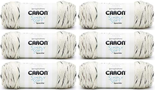 1 CSSS39 Caron Simply Soft Speckle-Pack of 6 Balls-141g Each Balls-Seashell