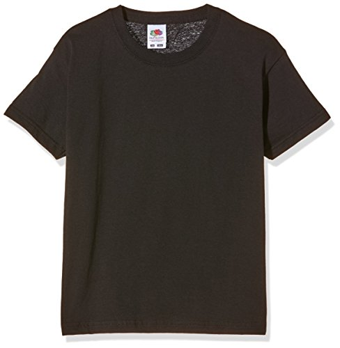 Fruit of the Loom Jungen T-Shirt, Schwarz, 140