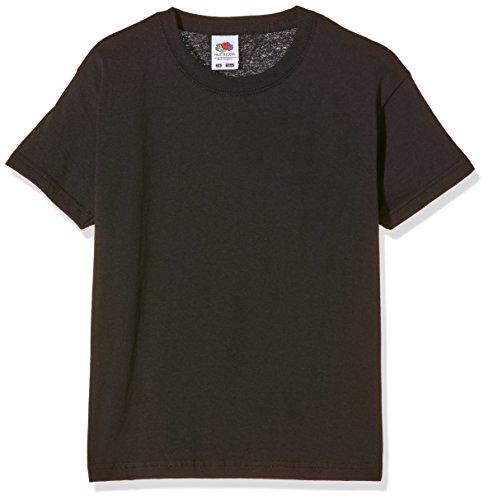 Fruit of the Loom Jungen SS132B T-Shirt, Schwarz, 3-4 Jahre
