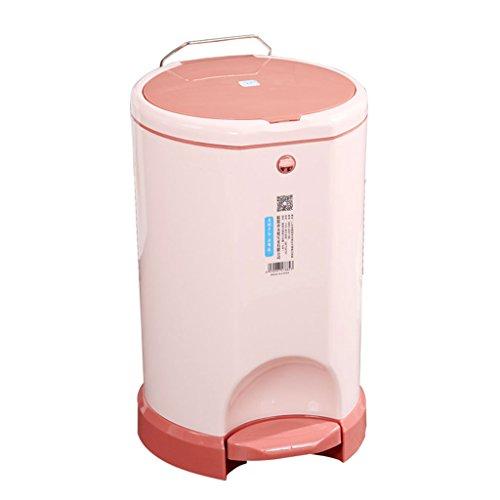 PRIDE Met pompen zak voetpedaal bin huis woonkamer slaapkamer badkamer groot overdekt plastiek sanitair emmer (Color : A)