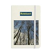 自然の風景の青い空緑の森林科学 ノートブッククラシックジャーナル日記A 5