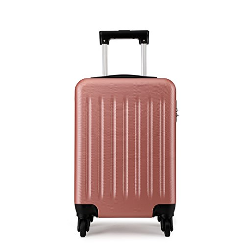 Kono Hardside Hand Luggage 4 Wheeled Spinner 19 inch Nude