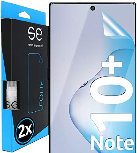 [2 Stück] 3D Schutzfolien kompatibel mit Samsung Galaxy Note 10 Plus, hüllenfre&liche durchsichtige HD Bildschirmschutz-Folie, Schutz vor Dreck & Kratzern, kein Schutzglas - smart Engineered