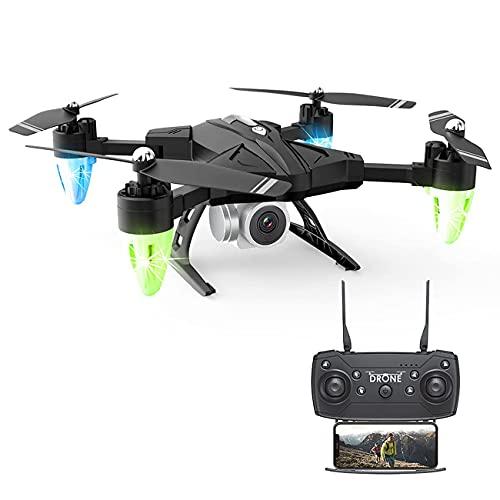 Drone FPV Wifi con videocamera HD 4K, quadricottero RC con video live grandangolare con mantenimento dell'altitudine, funzione sensore gravità, atterraggio decollo con una chiave RTF, per bambini, a
