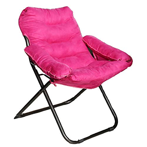 FEIFEI Fauteuils inclinables Pliante Lazy Chair Home Balcon Déjeuner Pause Nap Chaise Bureau Dortoir Maternité Lounge Chair 5 Couleurs Pliant (Couleur : Pink)