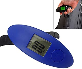 New Home Scale 100g Digital Electronic Luggage Scale LCD Portable Travel Suitcase Bag Scale Hanging Scale, Capacity:40kg (Color : Blue)