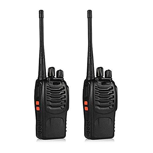 QCHEA Walkie Talkies Radio Recargable 400-480MHz Radio de Dos vías (Paquete de 2)