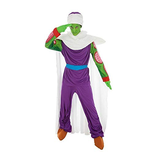 Disfraz Dragon Ball Piccolo 7tlg Verde púrpura - L
