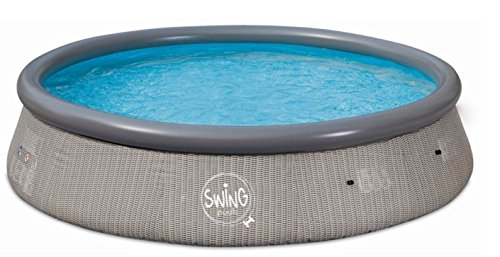 Swing Quick Up Easy Aufstellpool Rattan dunkel, 366 x 91 cm, ohne Filter