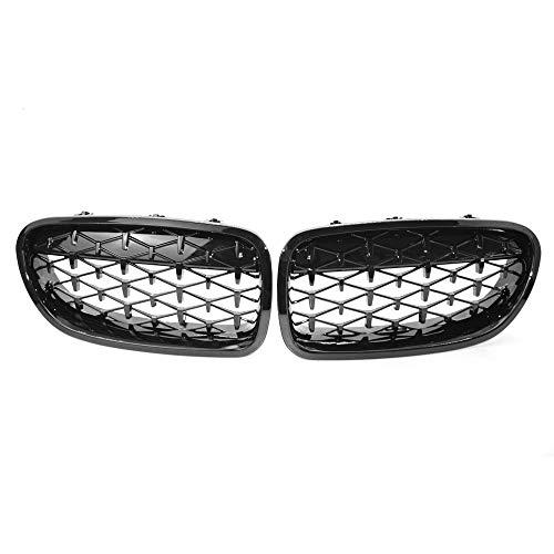 KKmoon Autofront-nieren, dubbele grill rooster New Meteor voor BMW F10 F11 F18 528i 535i 5 Series 2010-2016, helder zwart OE