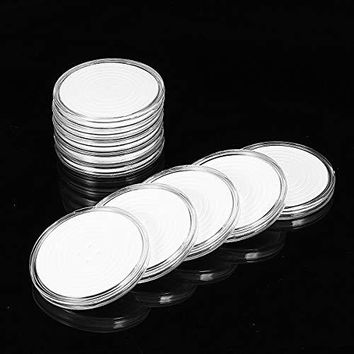 MJJEsports 10 Stks Zodiac Herdenking Munt Zilveren Dollar Coin Collectie Ronde Doos 29mm-39mm Munthouder