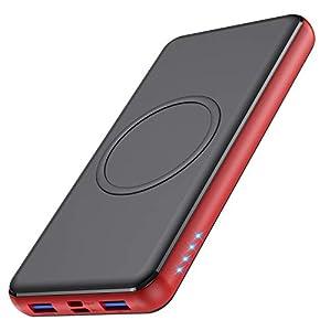 Feob Batería Externa Inalambrica, 26800mAh Power Bank con【10W Carga Inalambrica & 18W PD QC 3.0 Bidireccional Carga Rápida, 4 Salidas】Tipo C Cargador Portátil para iPhone Samsung Android Móviles y más