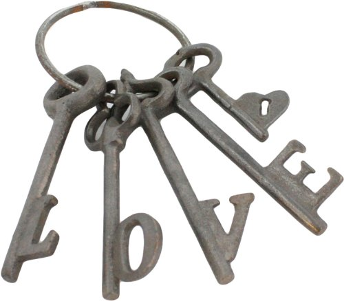 HomArt Cast Iron Love Keys, Natural