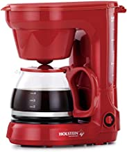Holstein Housewares, 5-Cup Coffee Maker, Red
