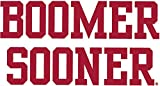 8 Inch OU University of Oklahoma Sooners Boomer Sooner Logo Removable Wall Decal Sticker Art NCAA Home Room Decor 8.5 by 4.5 Inches