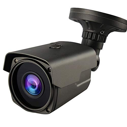 Honic Clear Night Vision 1080P Sony Starvis Sensor (AHD/TVI/CVI) 960H 2.8-12mm Manual Zoom CCTV Camera, WDR(1080P Modes Only), Smart IR, HLC, 2MP Outdoor Bullet Analog Security Camera (Grey)