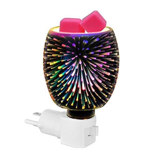 Luoji Lámpara De Aroma 3D, Quemador De Cera De Aromaterapia De Aceite Eléctrico Melt Fragrance Lámpara De Pared De Fusión De Cera Innovadora para La Oficina En Casa Dormitorio Sala De Estar Regalos
