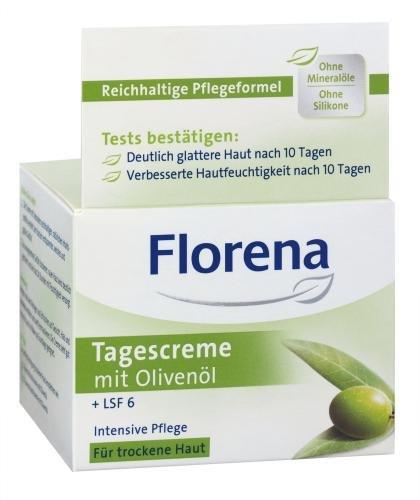 Florena Tagescreme mit Olivenöl Intensive Pflege für trockene Haut 50 ml