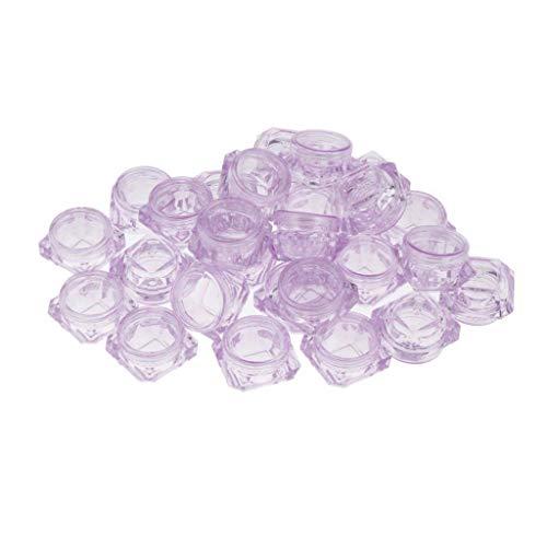 chiwanji 30x30ml Pot Vide en Plastique Récipient Cosmétique avec Couvercle pour Échantillon de Crèmes Stockage de Maquillage - Violet