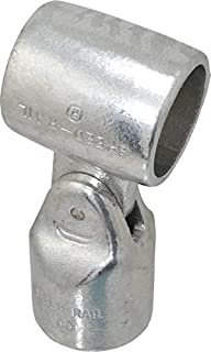 Adjustable Cross Assembly Aluminum Alloy Pipe Rail Fitting 1-1//4 Inch Pipe 3 Pack Hollaender