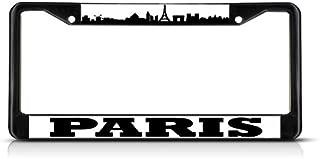 Fastasticdeals Paris Flag France License Plate Frame Tag Holder Cover