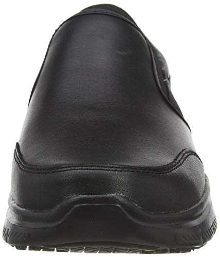 Skechers Flex Advantage Sr-Bronwood, Zapatillas sin Cordones Hombre, Negro (BLK Black Leather), 44 EU