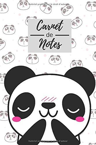 Carnet de notes: Carnet de Note et Dessin panda Journal Mignon Cahier de Texte Croquis Doodle | 110 Papier Blanc Réglé | format compact facile a transporter