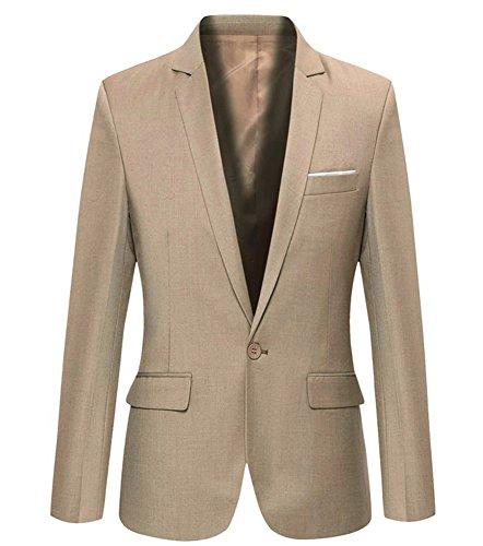 Tommy Hilfiger Men's Modern Fit Stretch Comfort Blazer, Light tan Weave, 38 Regular