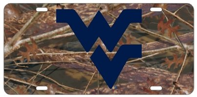WVU WEST VIRGINIA Camo License Plate Tag